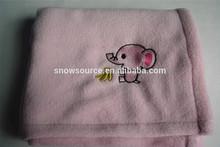 Soft Feel Anilmal pattern croal fleece baby Blankets wholesale