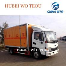 Foton 4*2 mini soda blasting equipment car transporter ,banger fireworks also for sale