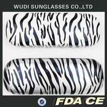 metal and PU material fashion zebra-stripe glasses case