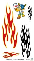 R3-13 water transfer temporary football meeting flame tattoo wholesale sticker supply from Rocoo