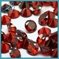 Rodada brilliant cut cubic zirconia rubi preço por quilate