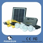 solar power system with 4 pcs LED lamp and 4w solar panel