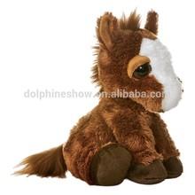 New style cute soft stuffed horse plush animal toy lifelike big eyes soft toy