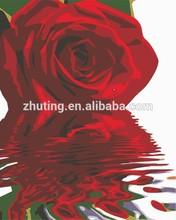 2015 hot sale wholesale handmade Rose DIY oil painting