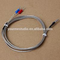 2015 New 3*15*1000 Silver Plated Copper K Type Thermocouple Temperature Sensor For 3D Printer