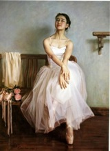 Customized elegant girl ballet canvas painting