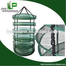 manufacturer and supplier for 15 years/8 tier round mesh drying rack/for indoor garden dark room