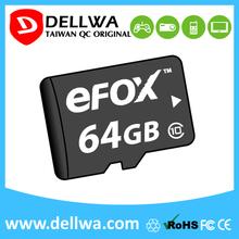 Taiwan full capacity memory card for micro sd 64gb slot