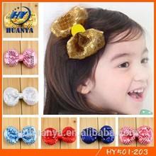 Fashion Baby Headband Sequins Baby Bows Girl Hairgrips Glitter Hair Bow Clip