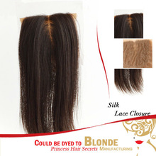 High Feedback !Virgin mongolian Silk Base Kinky Lace Closure Fast Delivery No Tangle No Shed