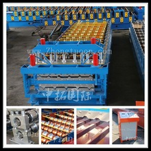 Russian model double layer roof tile roll forming machine