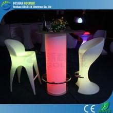 GLACS Control Cool LED Bar Counter/Outdoor High Top Bar Tables