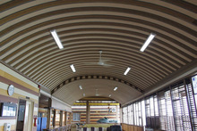 wpc/ greener wood for ceiling , saving forests sources ceiling production