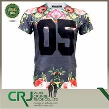 """Men's Sublimation T-Shirt """"Floral #"""" Brand T-shirt Hip Hop Style"""