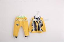 iki renk uzun kollu 2015 bahar yeni stil moda tığişi bebek giysileri