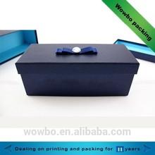 elegant long big blue cardboard gift box
