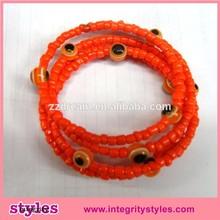 Most popular red seed bead evil eye bracelets promotion gift