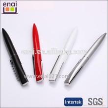 cheap office light 3D cap white simply metal ballpoint pen