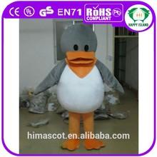 2015 HI CE EN71 duck mascot costume,lovely duck doll,plush giant duck toy for adult