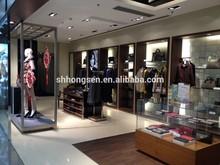 Luxury gentleman clothing shop decoration and display furnature