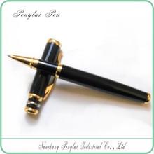 Logo Customized Classic Black Executive Metal Roller Pens