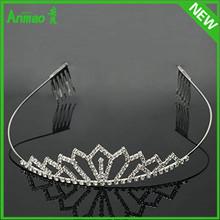 New Mode Crown Royal Chair Cheap Princess Crown Rhinestones Chain For Crown