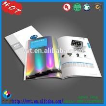 2015 Full Color Custom hardcover/staple/ advertising brochures