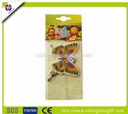 Custom hanging car air freshener /wholesale bulk car air fresheners /paper air freshener