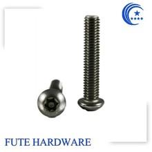 anti-theft cap head aluminum anodized screws