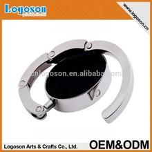 Wholesale round metal blank foldable bag hanger