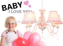 wholesale modern design children pink simple decorative chandelier pendant light
