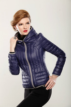 2015 latest designer ladies ultra thin foldable down jacket