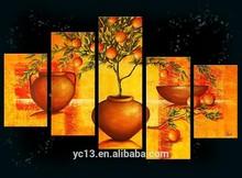 5pcs panel Modern flower oil painting group pl-457