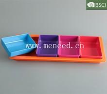 wholesale solid color plastic melamine dessert plates