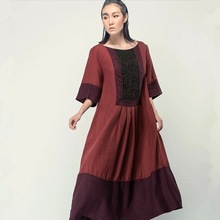 2014 alta calidad hermosos bordados a mano tamaño más mujeres caftán