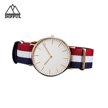 DW concept watch , DW style steel watch ,watch with nylon strap