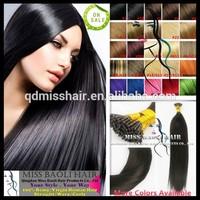 2015 Trendy Styles Qingdao Miss Baoli Factory Price 100% Intact Cuticles Human Hair Silicone Hair