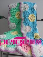 factory supply handmade cotton crochet baby blankets
