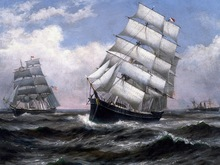 Hot sale ship in the storm canvas oil paint by numbers