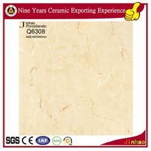 Non slip polished porcelain golden marble tiles