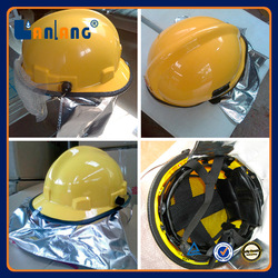 High Quality Safety Equipment Plastic Fire Fighter Helmet