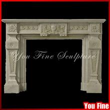 Freestanding Indoor Mantel Surround Stone Fireplace Mantel Surround