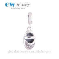 Fashion Jewelry Baby Shoes Crystal Pendant Charm Silver Pendants UK YZ508