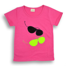 ta2071 kids summer clothes cotton printed short sleeve girl fashion t shirt