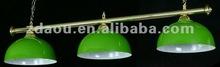 Billiard lamp with metal shade