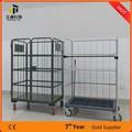 supermercado plegable de metal de malla de alambre de almacenamiento de carga de contenedores roll