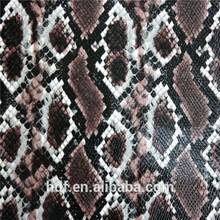 Snake skin pvc pu leather stock lot