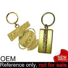 manufacture promotional fashion cheap metal tag custom name key chains