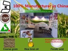 98% ferulic acid CAS 1135-24-6 , natural rice bran extract, natural 98% ferulic acid