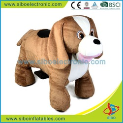 Amusement equipment moving animal toy,plush toys puppies for kids